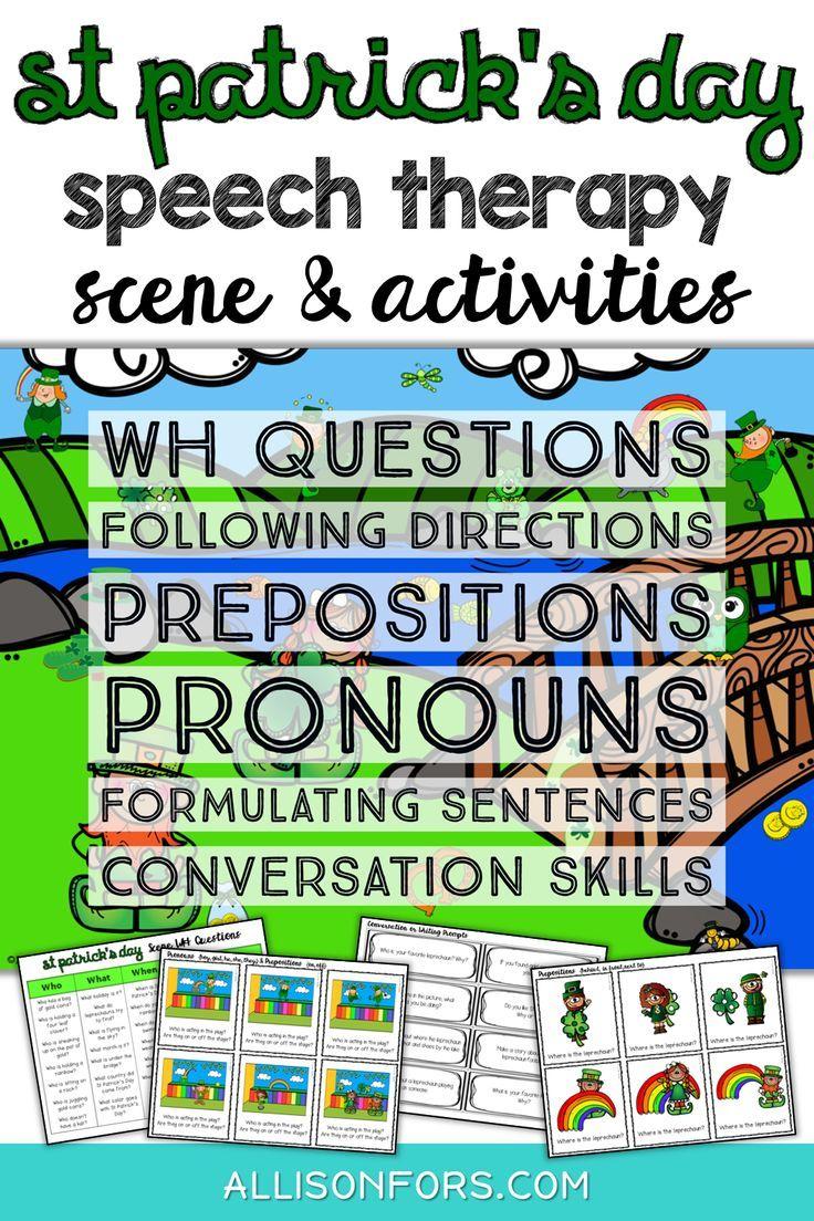 St Patrick's Day Speech Therapy Language Scene | Speech ...