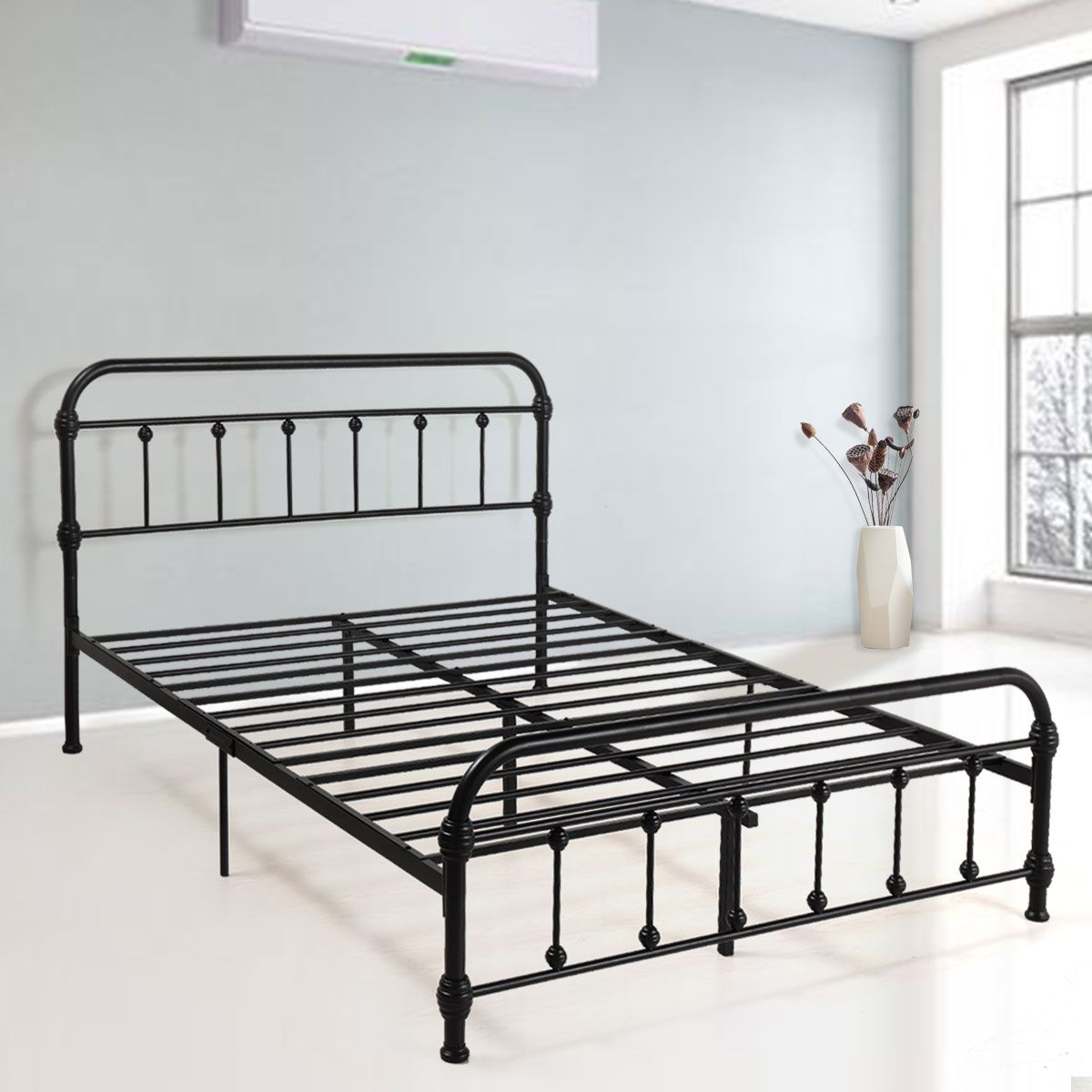 Home Metal Platform Bed Metal Bed Frame Metal Beds