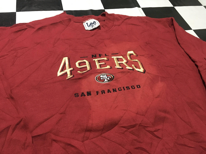 Vintage lee sport x san francisco 49ers sweater for Bespoke shirts san francisco