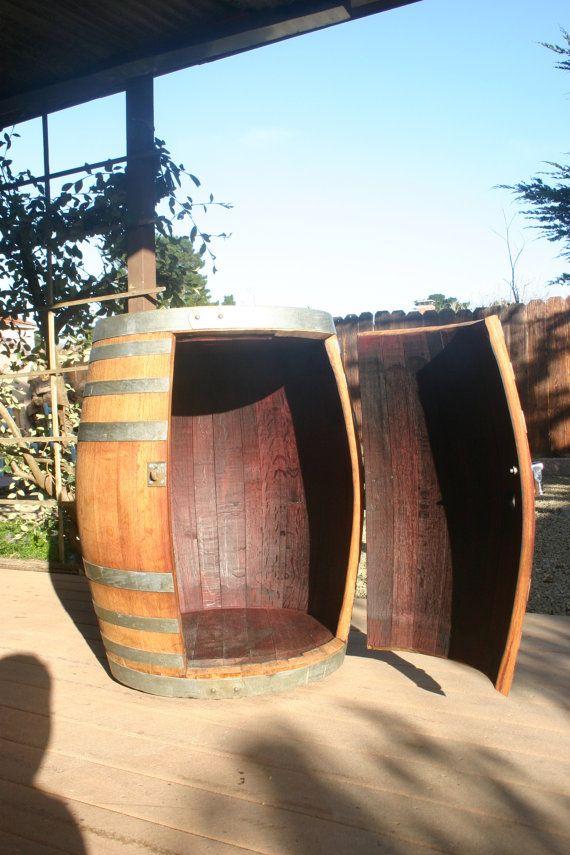 $500 Wine Barrel Portable Beer Dispenser Kegerator Jockey by ruggedly, $300.00