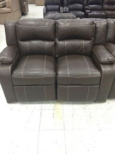 dual reclining rv sofa leather sectional recliner furniture recliners