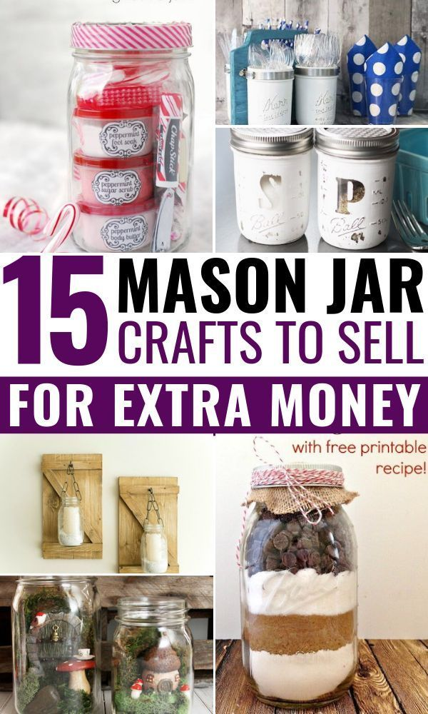 15 DIY Mason Jar Crafts To Sell For Extra Cash That You Need To Know About #craftstomakeandsell