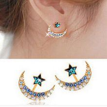 96733faea7fa Precio bajo de la fábrica venta rhinestone luna y estrella cristal  pendientes para para shamballa del partido boho pendientes al por  mayor(China (Mainland))