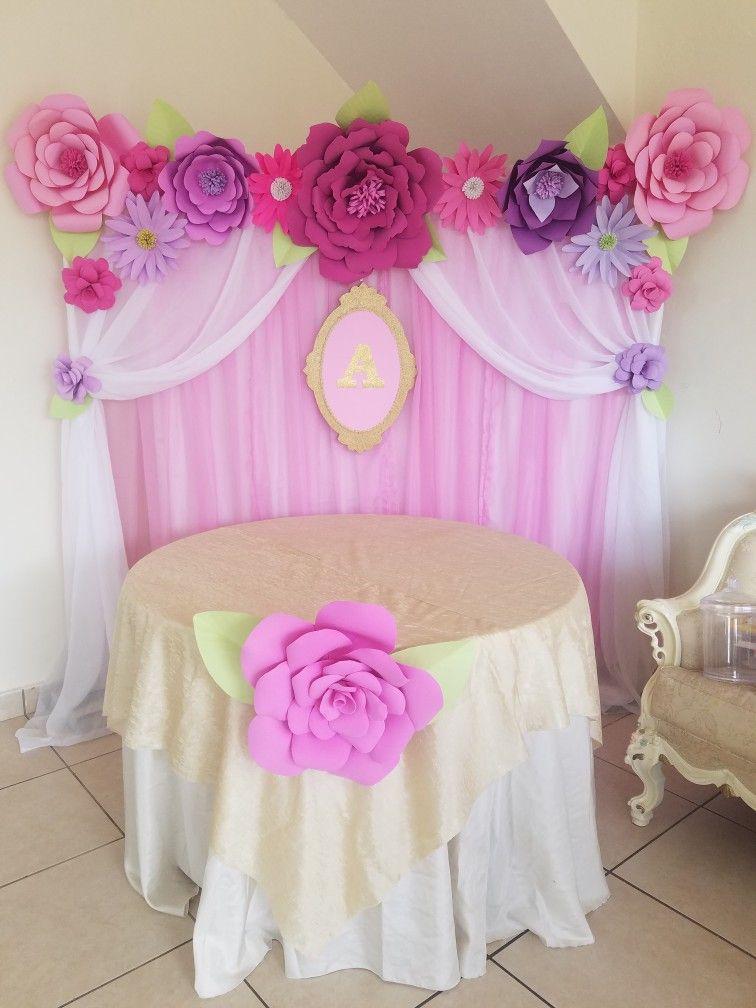 Flores de papel fiestas infantiles pinterest flores for Papel de decoracion
