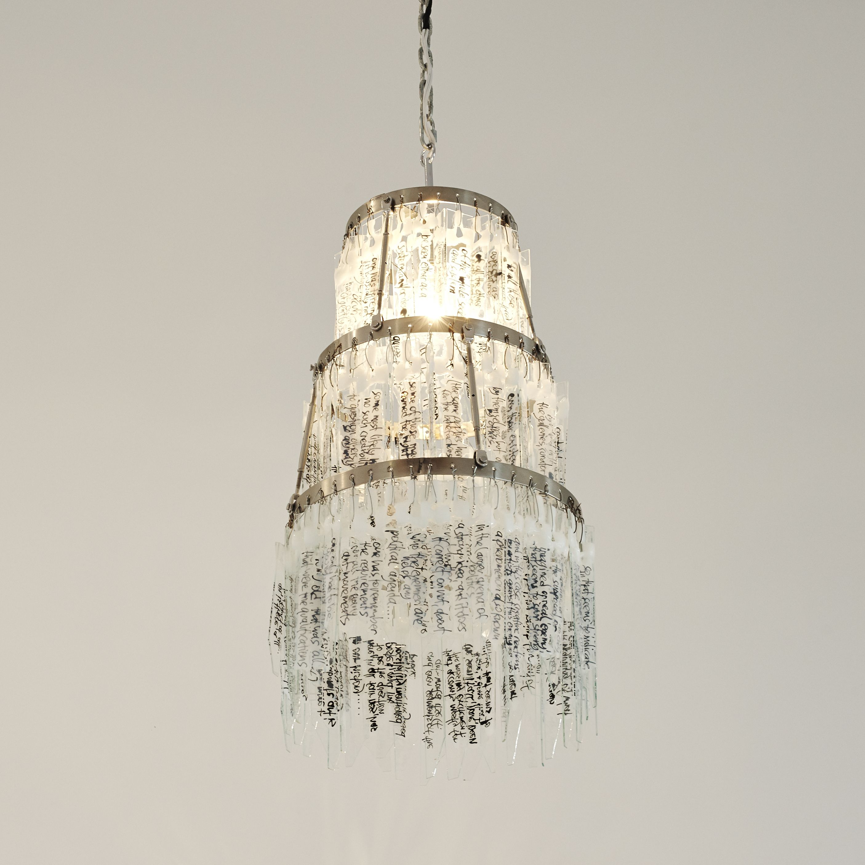 Weiss hand made chandeliers made of shattered glass pieces consists weiss hand made chandeliers made of shattered glass pieces consists of weiss stream arubaitofo Image collections