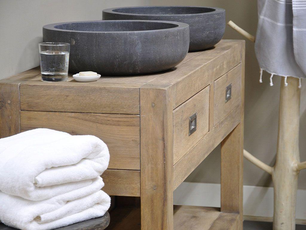 Oud houten badkamermeubel pinterest badkamermeubel badkamer en xl