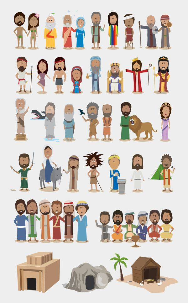 bible character figurines a very cute illustration of some of the most important