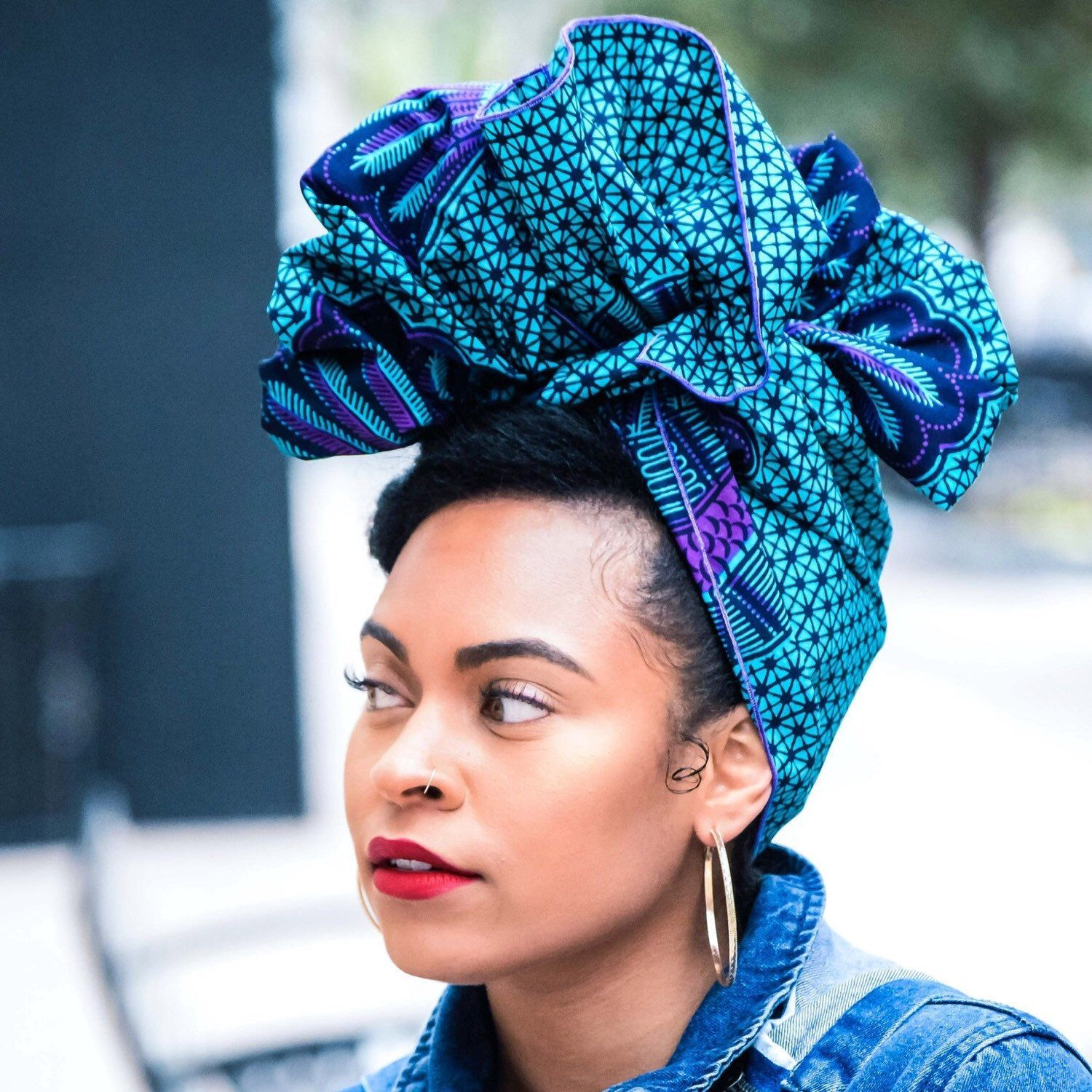 Who doesn't love purple? Get this Ankara Headwrap now ...