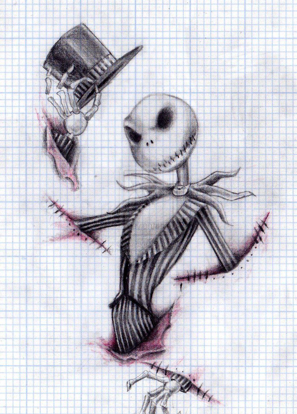 jack skellington drawings - 736×1030