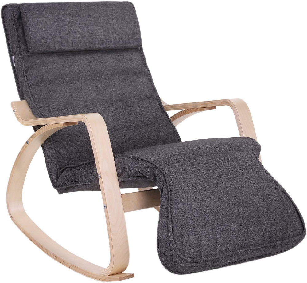 SONGMICS Relax Rocking Chair, Lounge Chair