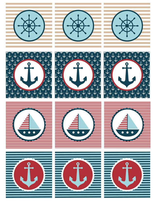 Nautical Baby Shower Printables - My Sister\'s Suitcase - Packed ...