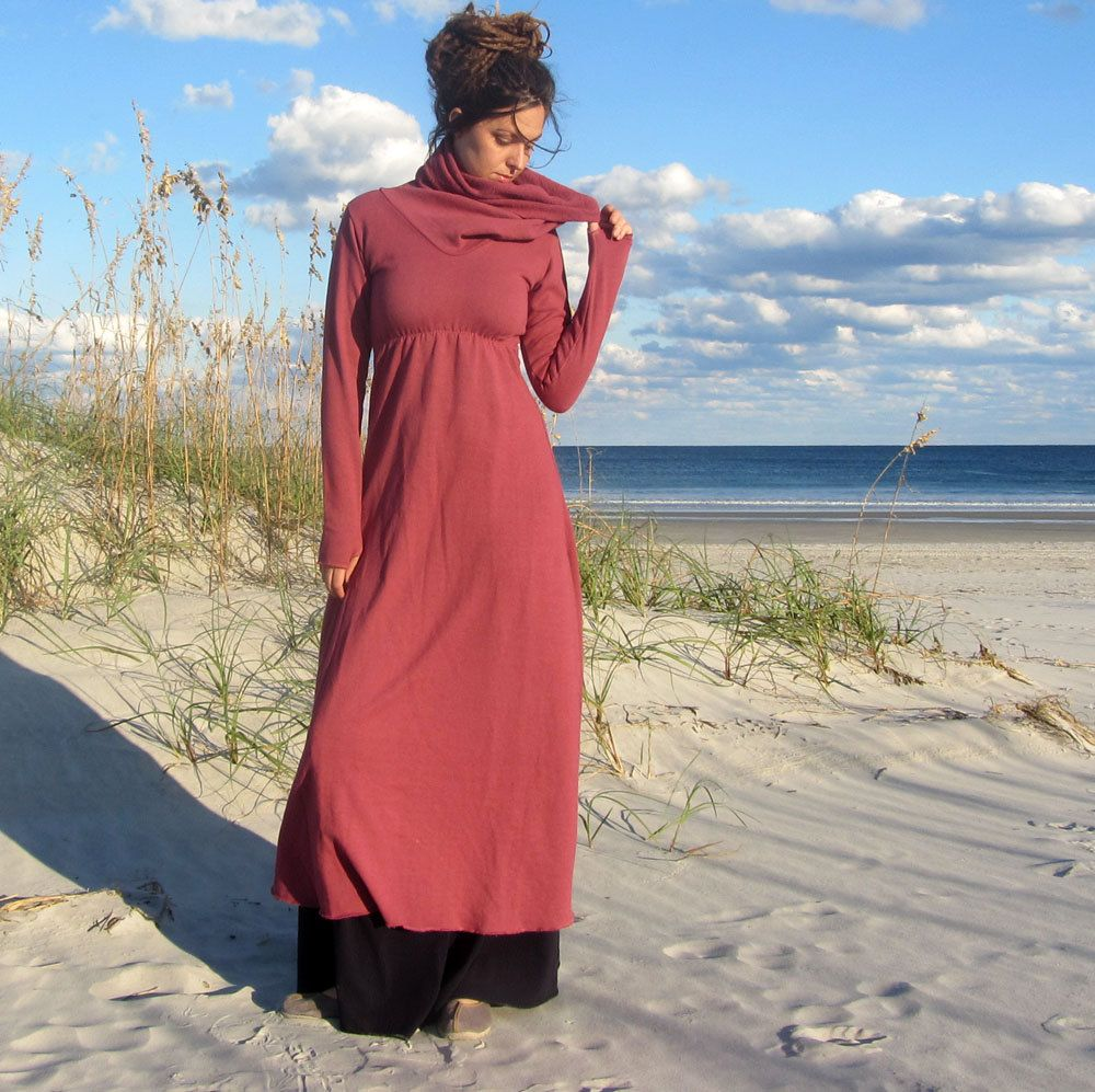 Long Let it Snow Dress (hemp/organic cotton fleece). $150,00, via Etsy.