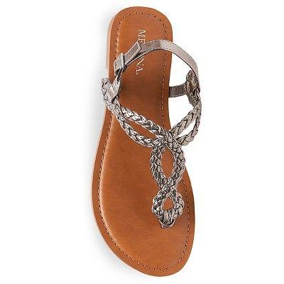 d4f479a702b4 Women s Jana Quarter Strap Sandals Merona - Pewter (Silver) 5.5 ...