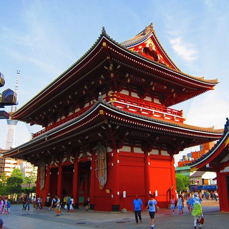 Temple Texas Traditional Home: The Hozōmon Or Treasure-House Gate At Sensoji Temple In