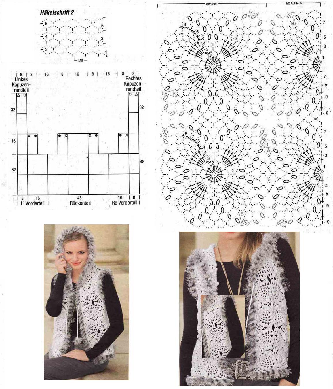 patrones chaleco crochet mujer - Buscar con Google | crochet ...
