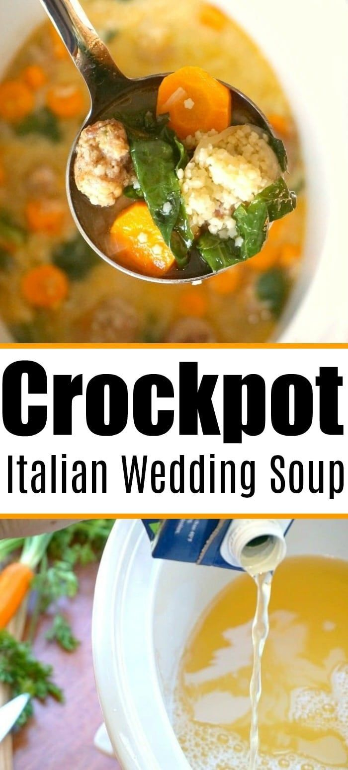 Italian wedding soup recipe in your crockpot your whole