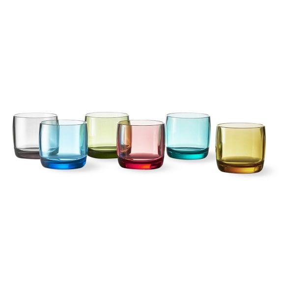 DuraClear® Double Old-Fashioned, Set of 6, Multicolor