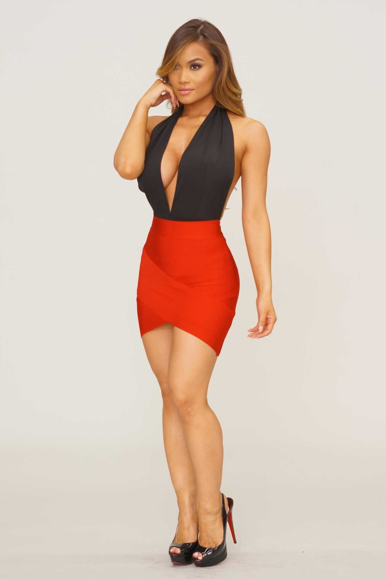 arched up bandage skirt - red   new arrivals - may   pinterest