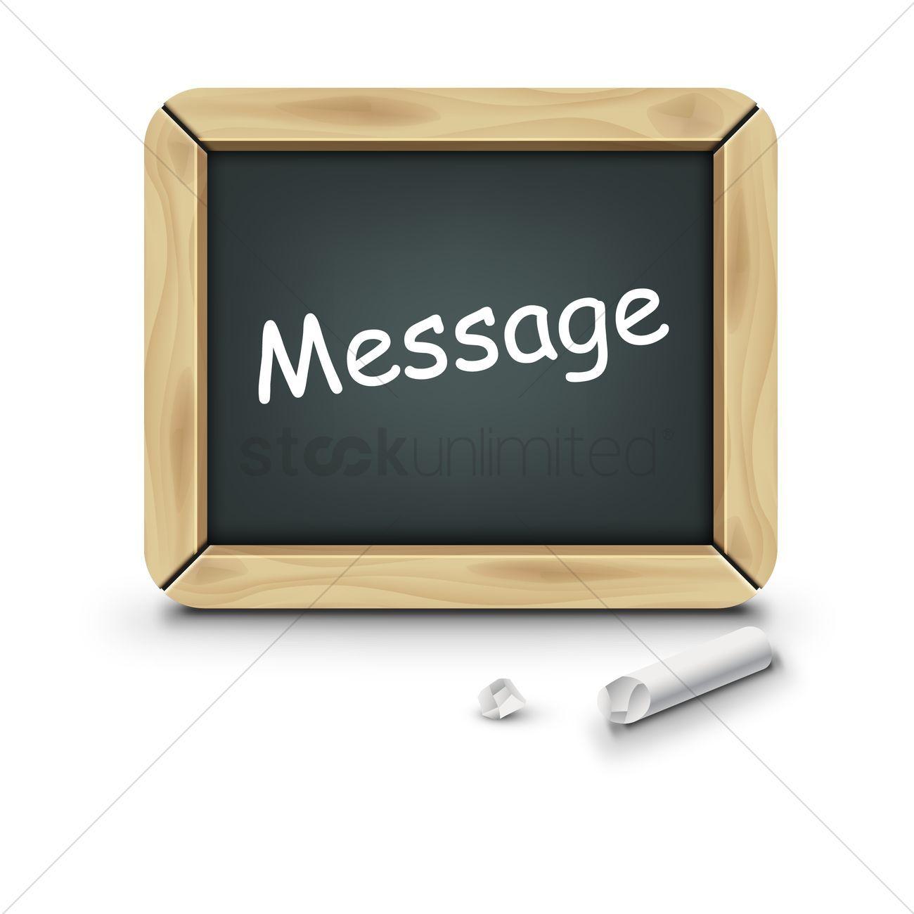 Message slate vector illustration