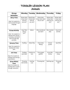 Infant Blank Lesson Plan Sheets Toddler Lesson Plan 1 Toddler Lessons Curriculum Lesson Plans Daycare Lesson Plans