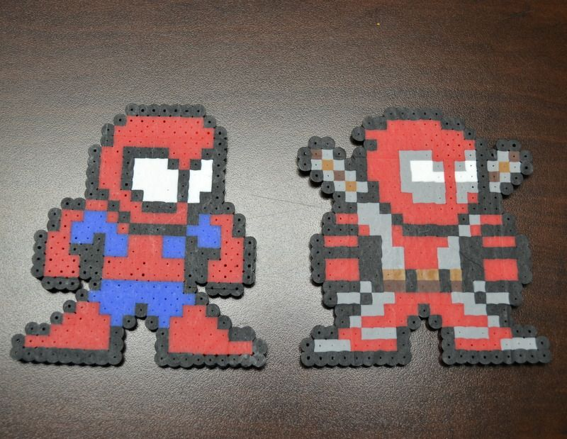 Hama Beads Spiderman: Spider Man Deadpool Perler Bead