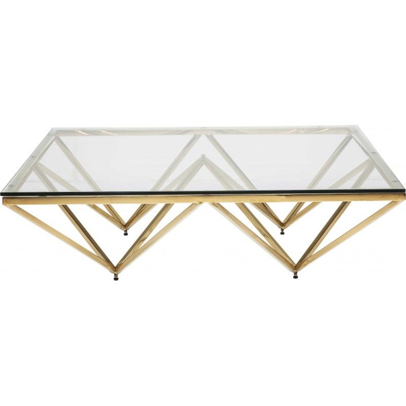 Table Basse Contemporaine Doree Network Kare Design Table Basse Verre Table Basse Carree En Verre Decoration Salon Dore
