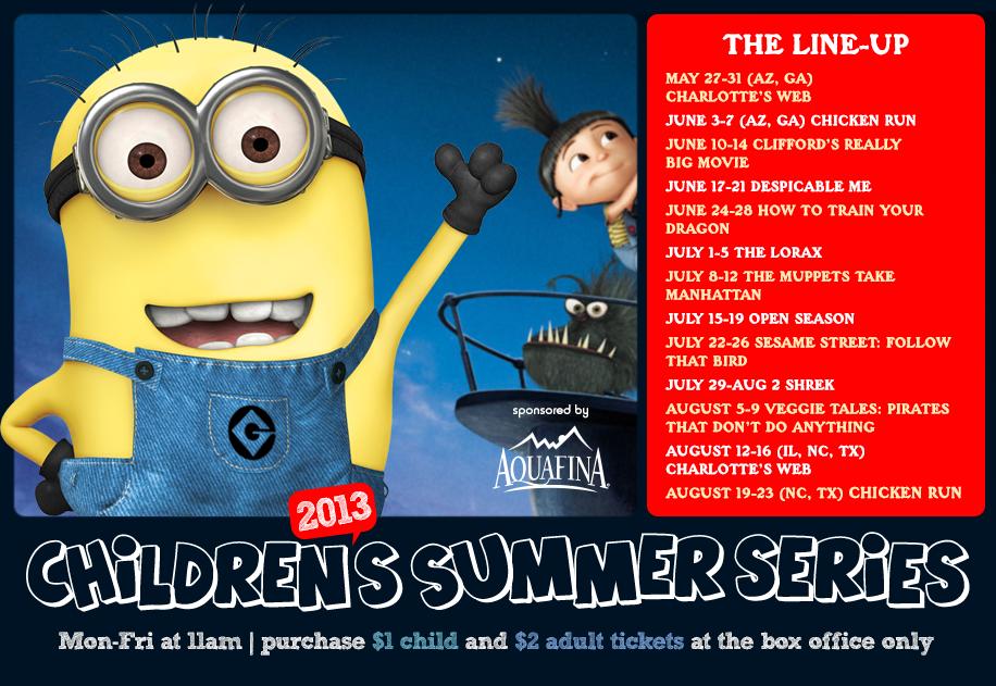 Studio Movie Grill Childrenu0027s Summer Series, Mon Fri At 11am, Purchase $1  Child