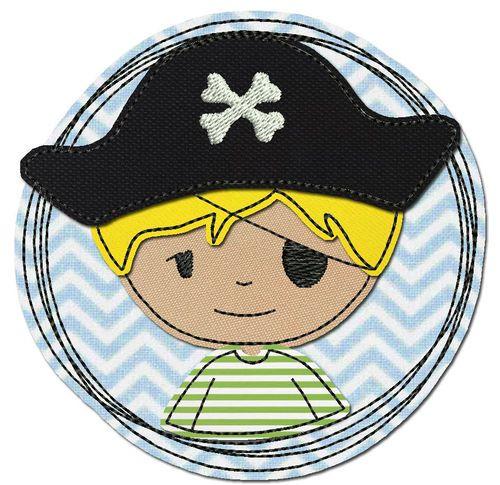 Selber Naehen Vorlagen: Pirat - Stickdatei - Doodle-Button
