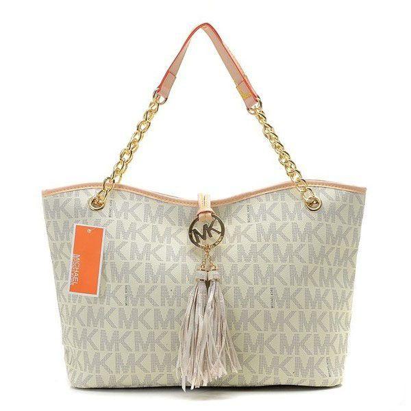 Wholesale Michael Kors handbags outlet Online for sale - Off Michael Kors  Jet Set Chain Large Vanilla Tote -