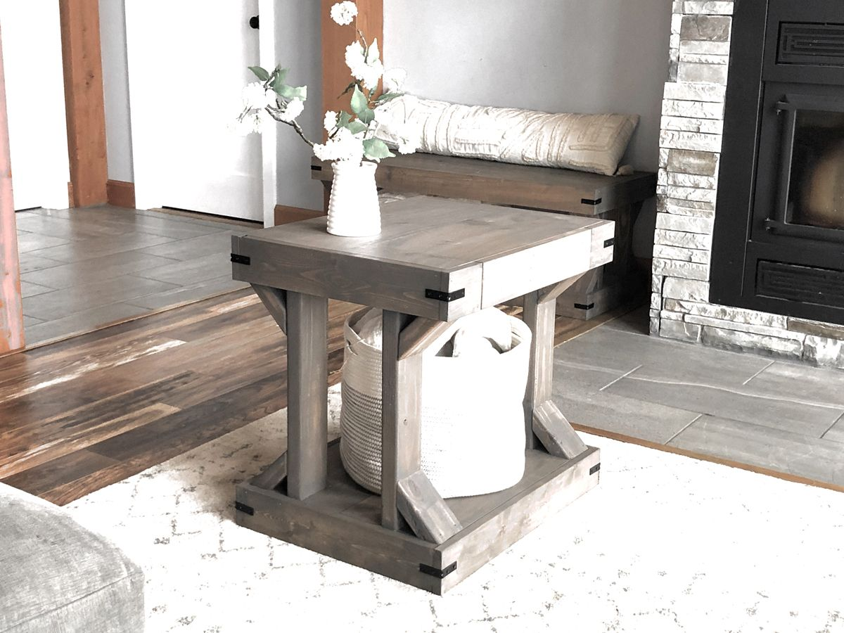 Side Table [Modern Farmhouse Collection] Modern side