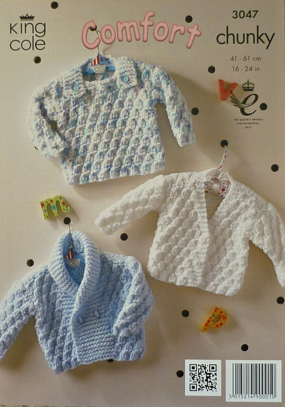 A4 KNITTING PATTERN for BABY Sweaters JUMPERS /& CARDIGANS