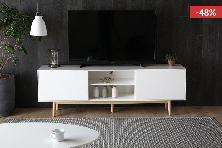 Kotka Meuble Tv Scandinave Blanc Avec Rangements Pas Cher Meuble Tv Concept Usine Meuble Tv Scandinave Idee Deco Salon Moderne Et Meuble Tv
