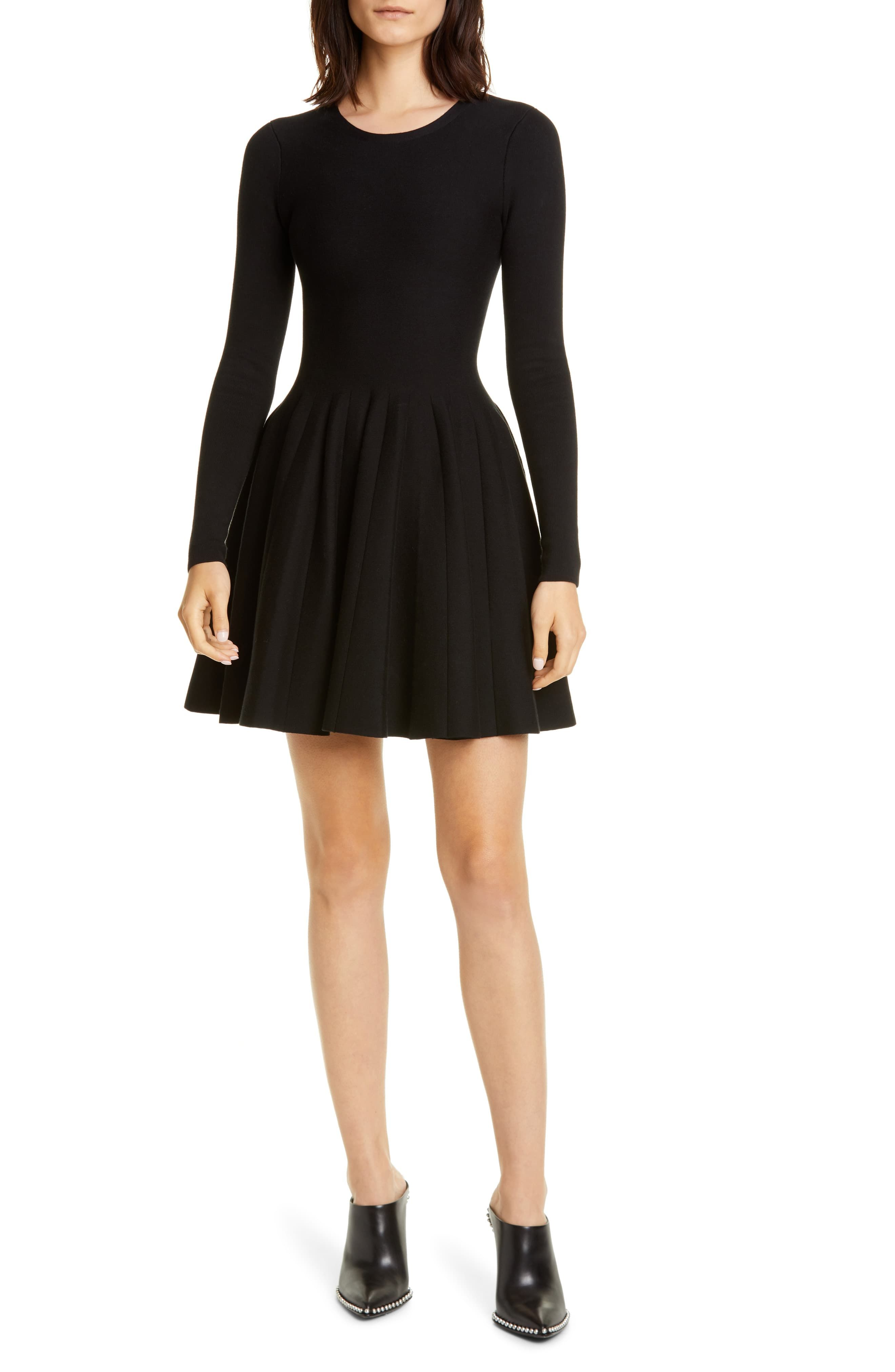 Women S Alexander Wang Long Sleeve Fit Flare Dress Size Medium Black In 2020 Long Sleeve Fitted Dress Fit Flare Dress Flare Dress [ 4048 x 2640 Pixel ]