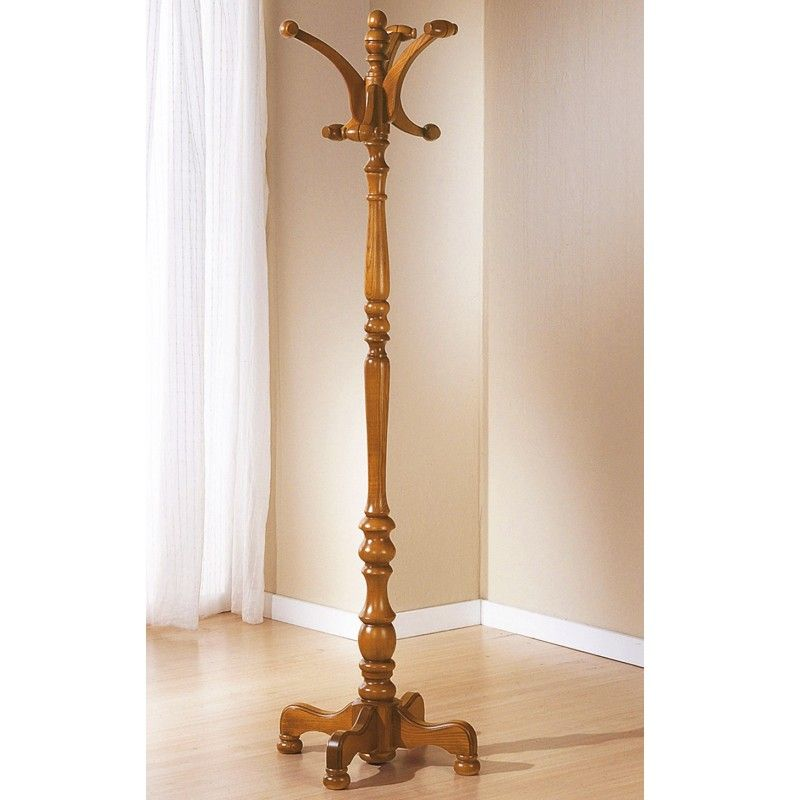 perchero rbol de pie torneado en madera haya