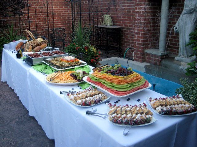 catering display ideas grand appetizer buffet silver whisk catering