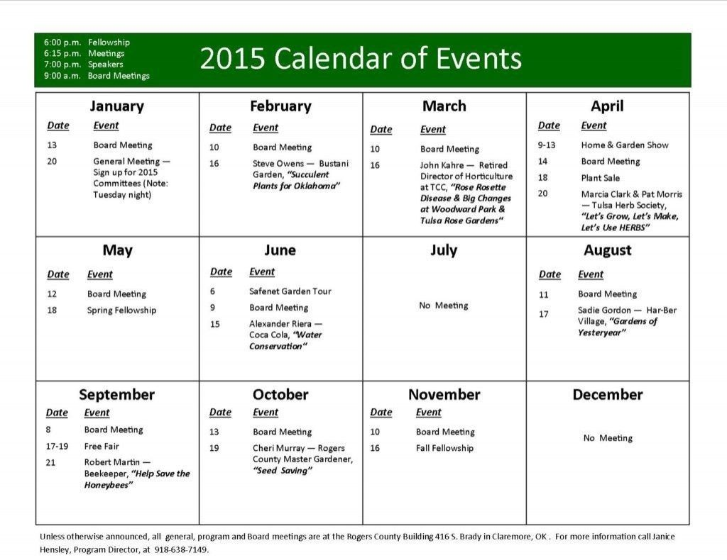 Year Calendar Of Events Template Schedule Template Event Calendar Template Event Calendar Schedule of events template word