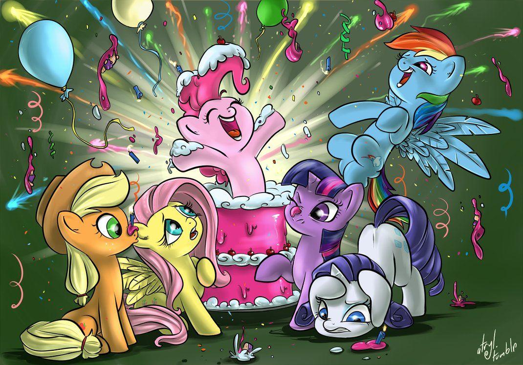 Открытка май литл пони с днем рождения