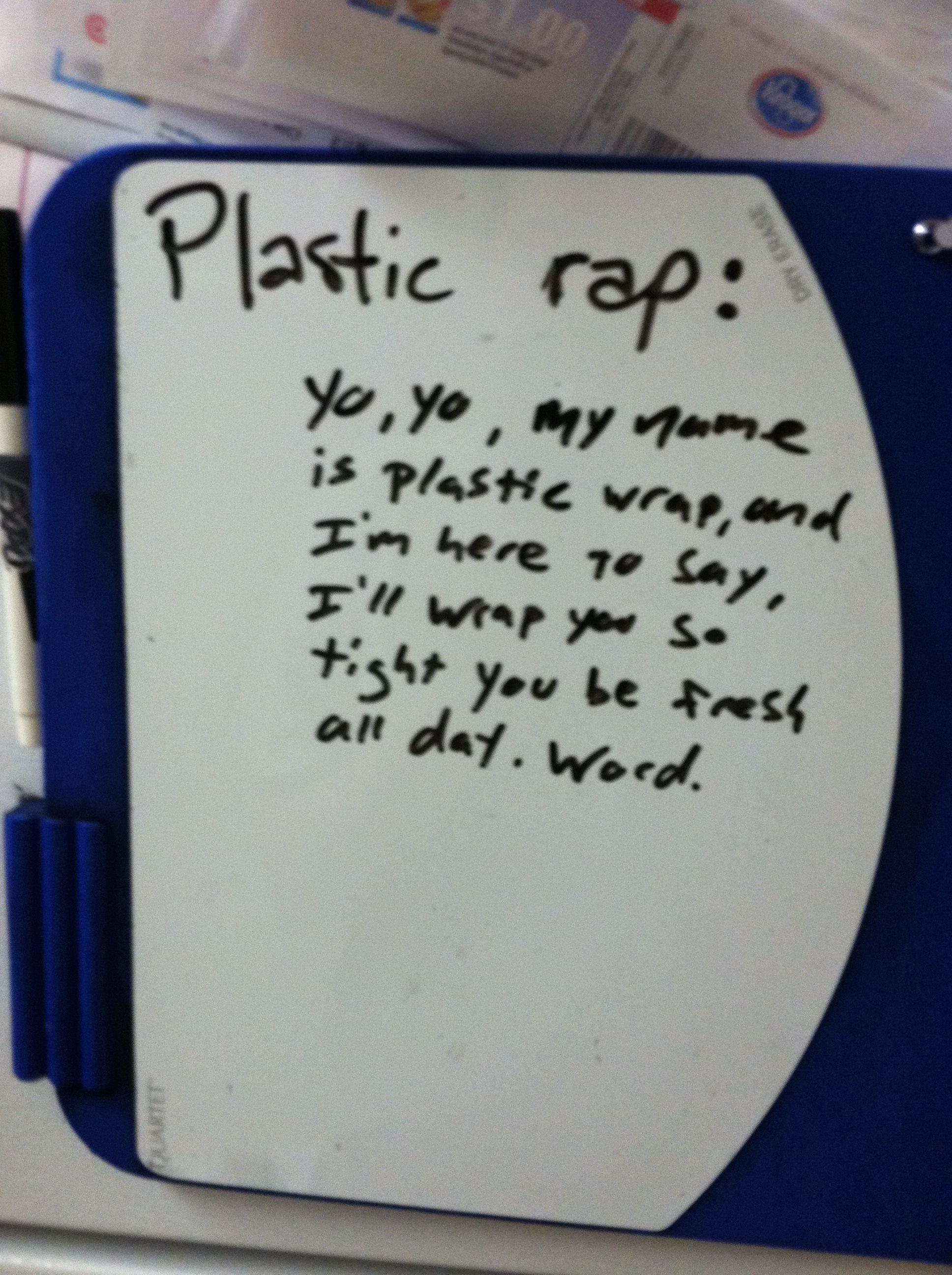 Plastic rap | Words, Rap, Puns