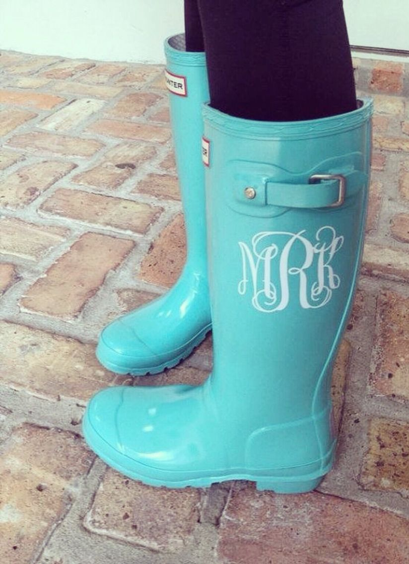 6014091ef58f 3 Letter Monogram Sticker for Rain Boots by VforVinyl on Etsy