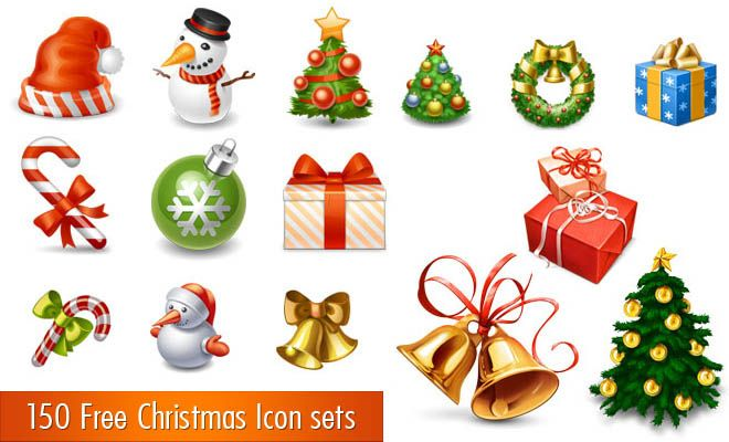 150 Free Christmas Icon Sets For Graphic And Web Designers Christmas Icons Christmas Frames Wax Paper Crafts