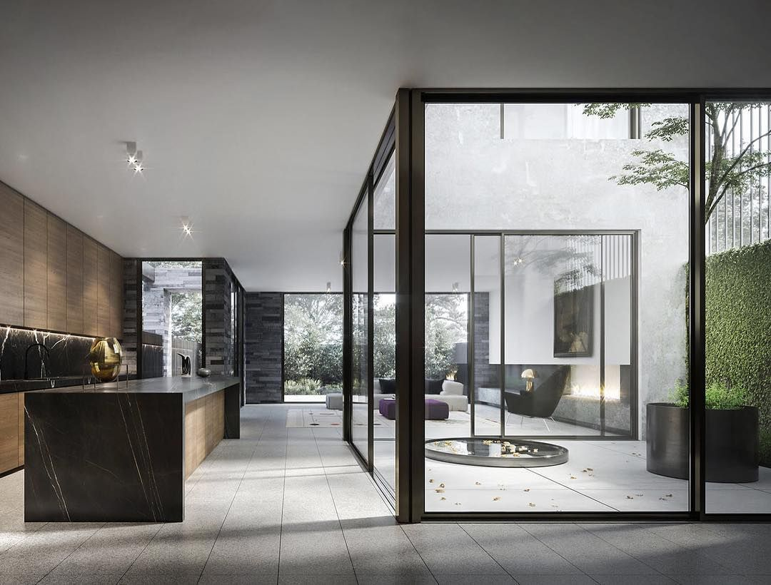 Internal Visualization Of The Internal Courtyard And Interiors For