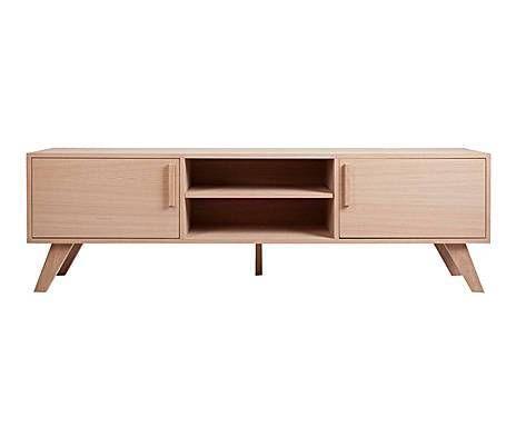 Piezas Modernas: Mueble de televisión con 2 puertas en roble ...