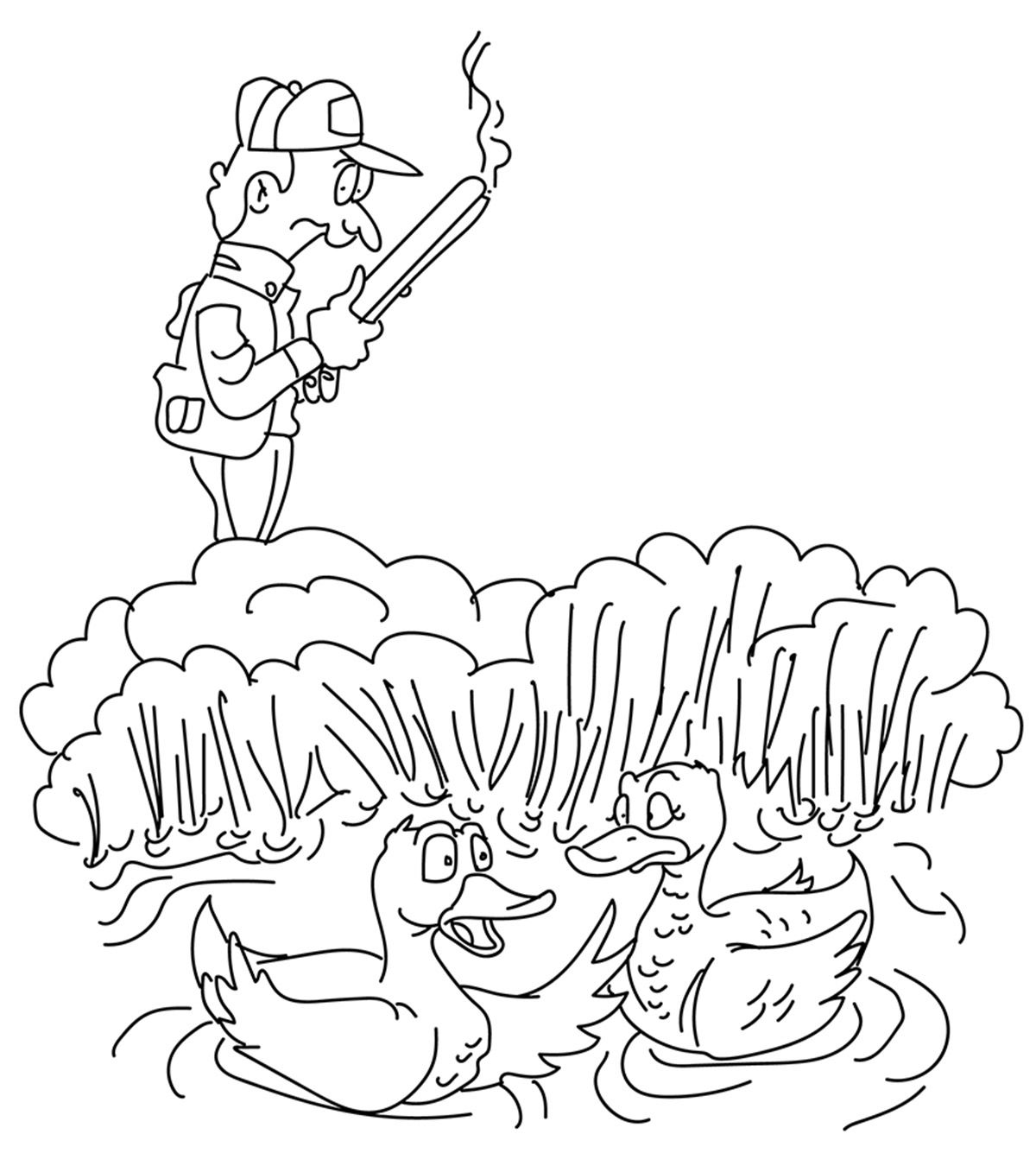 Wildlife Hunting Animal Coloring Pages Coloring Pages Fox Coloring Page