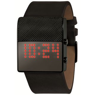 Black Dice Men's Gamer Black Leather Strap Digital Watch... its for guys but i like how simple it is...