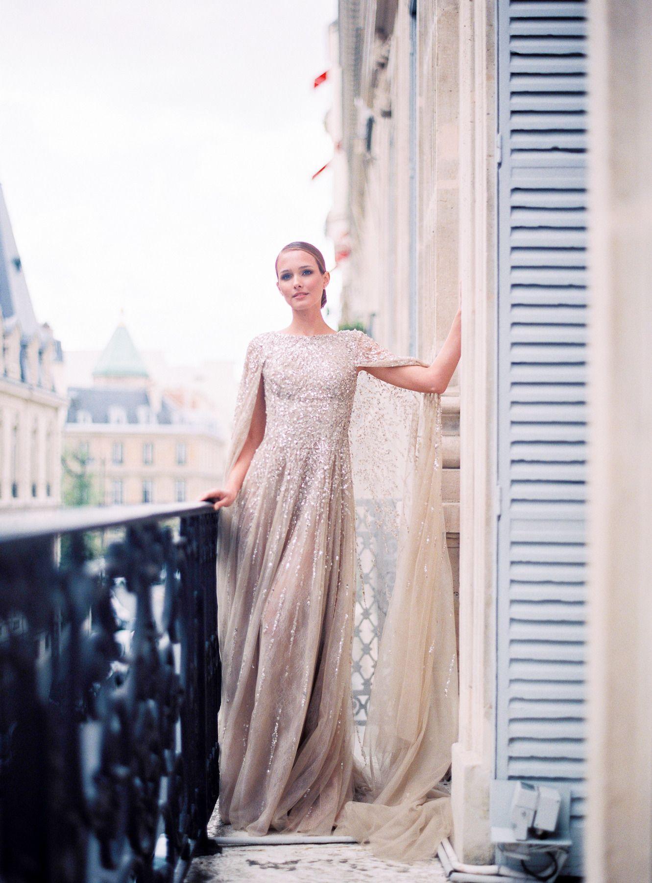 Romantic haute couture wedding inspiration in paris haute couture