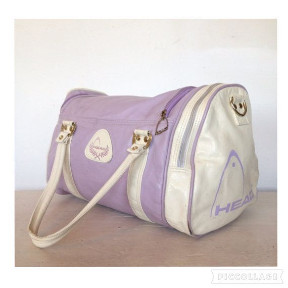 1003633e4a84 Vintage 1980 s Holdall Lilac Gym Sports Bag By Head Retro Duffle Shoulder  Bag Overnight Travel Luggage Activewear Accessories 90s Hip Hop