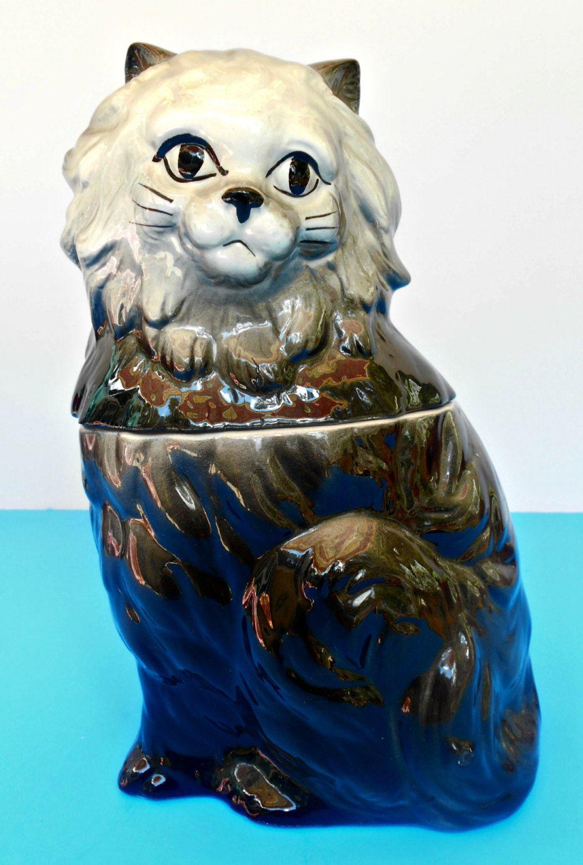 Jar Kitty Контейнер Кошка хранения Керамическая Cat по TheOldCatHouse