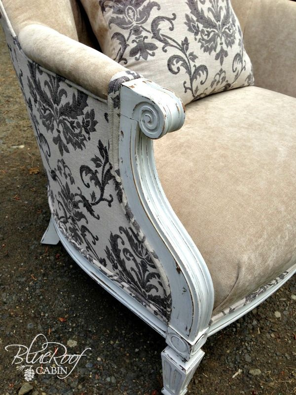 One Chair Two Fabrics Reupholster Furniture Reupholster Chair Chair Upholstery