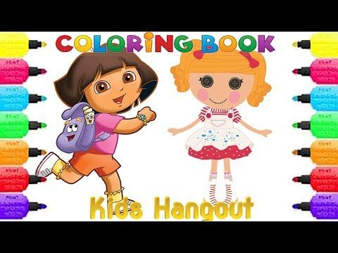1) Coloring Book Pages For Kids girls and boys Dora The Explorer ...