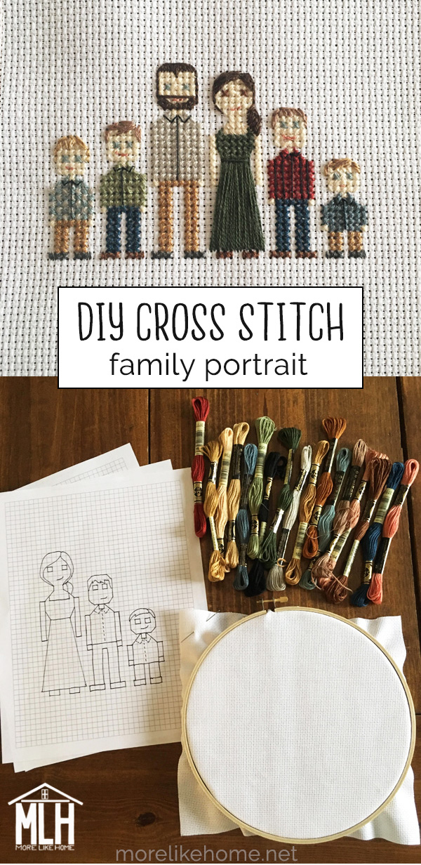 Photo of Cross-Stitch Family Portrait Tutorial